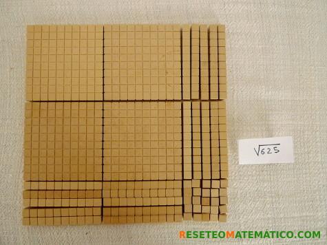 Base 10. Cálculo de la raiz cuadrada de 625