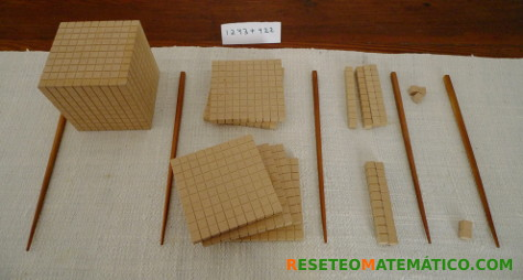 Suma con bloque Base 10. 1243+422