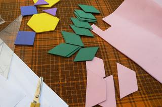 Foto de Orcas-Alce. Pattern Blocks de goma eva