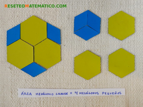 Area del hexagono con Pattern Blocks