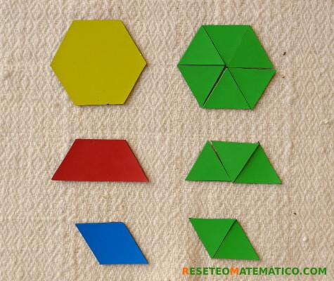 Area de las piezas de Pattern Blocks