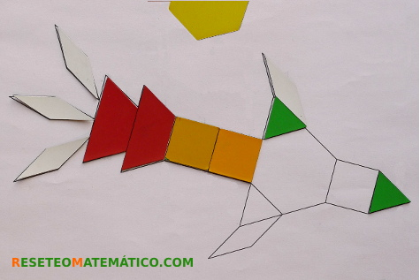 Pattern Blocks plantilla contorno