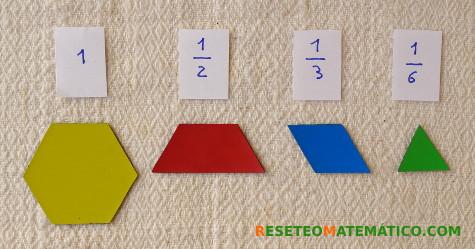 Pattern Blocks y su relación con las fracciones.