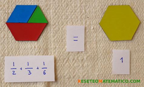 Suma de fracciones con Pattern Blocks