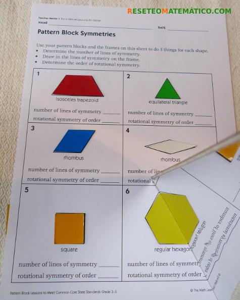Simetría piezas Pattern Blocks