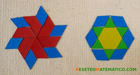 Mandalas con Pattern Blocks