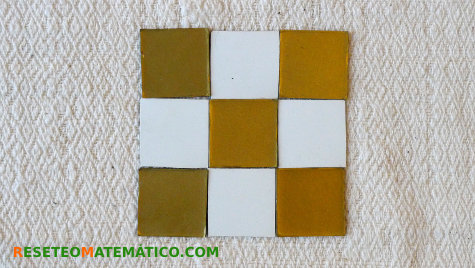 Teselación regular con cuadrados