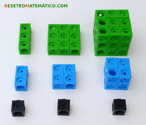 Potencias cuadrados y cubos con Policubos
