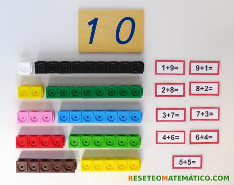 Complementos del 10 con Policubos