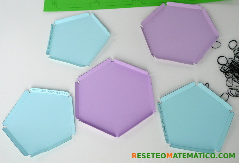 Piezas para construir poliedros con gomitas