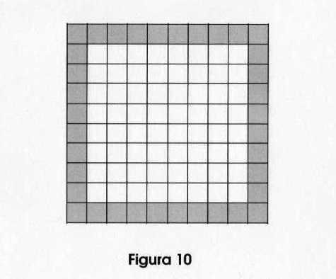 Si esta es la figura 10, ¿cuántos cuadrados sombreados tendrá la figura 6? ¿y la 529?