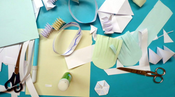 Matemáticas con tiras de papel y próximo taller