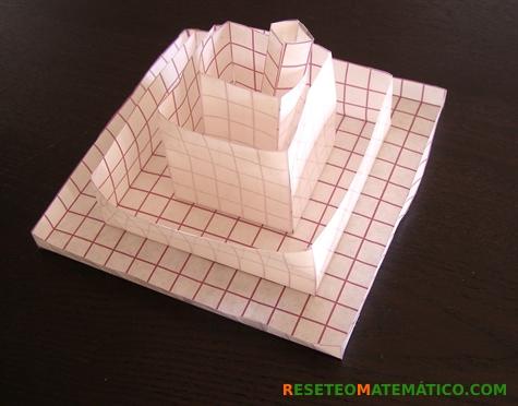 Proyecto Matemáticas Manipulativos Volumen. Diferentes cajas montadas.