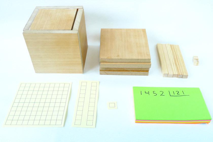Cómo hacer divisiones largas con bloques base 10 y cómo escribirlas