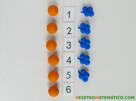 Concepto de cantidad. Comparar conjuntos con elementos alineados