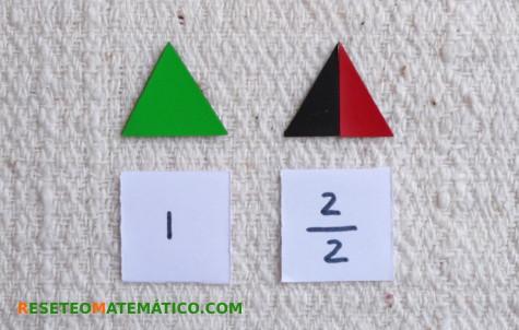 medio triángulo equilátero
