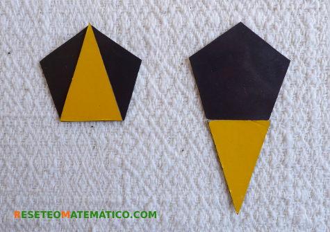 Pentágono y triángulo