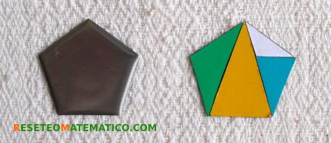 triángulos del pentágono