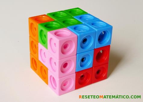 Cubo SOMA montado hecho con Policubos