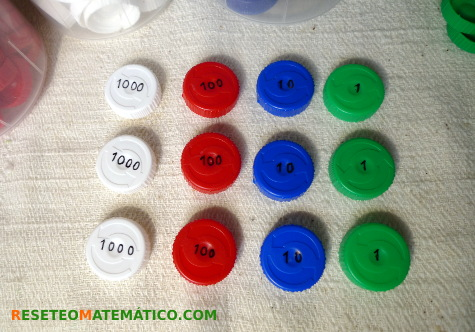Sellos Montessori con tapónes