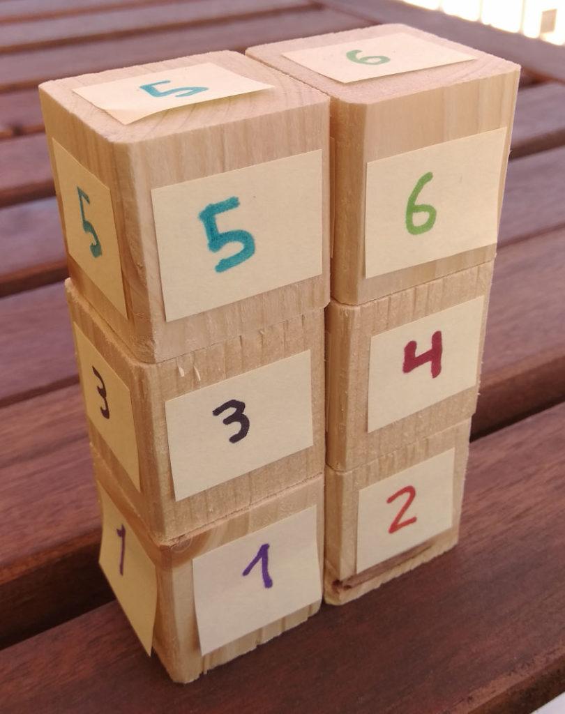 Torre de 2 x 3 con 6 cubos