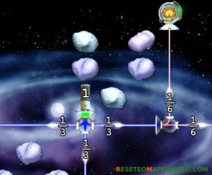 Refraction juego con fracciones. Detalle del nivel 2.5